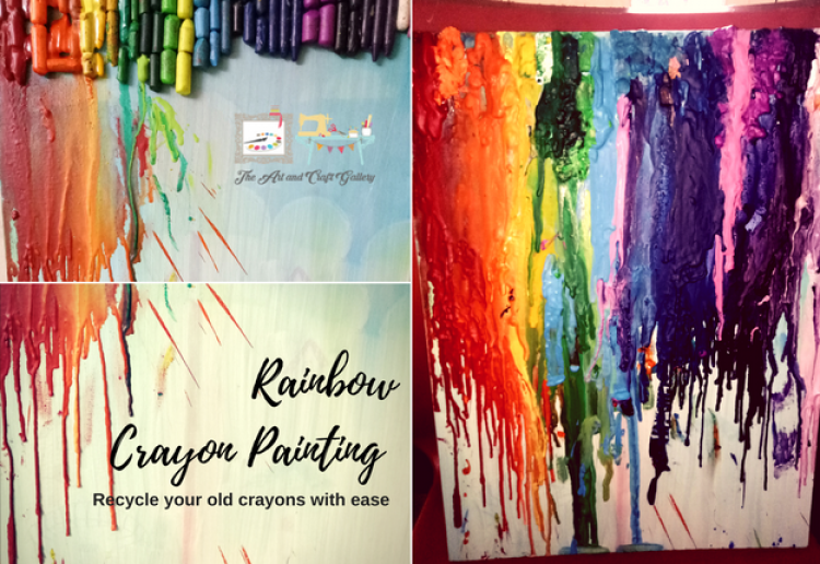Crayons Rainbow Painting
